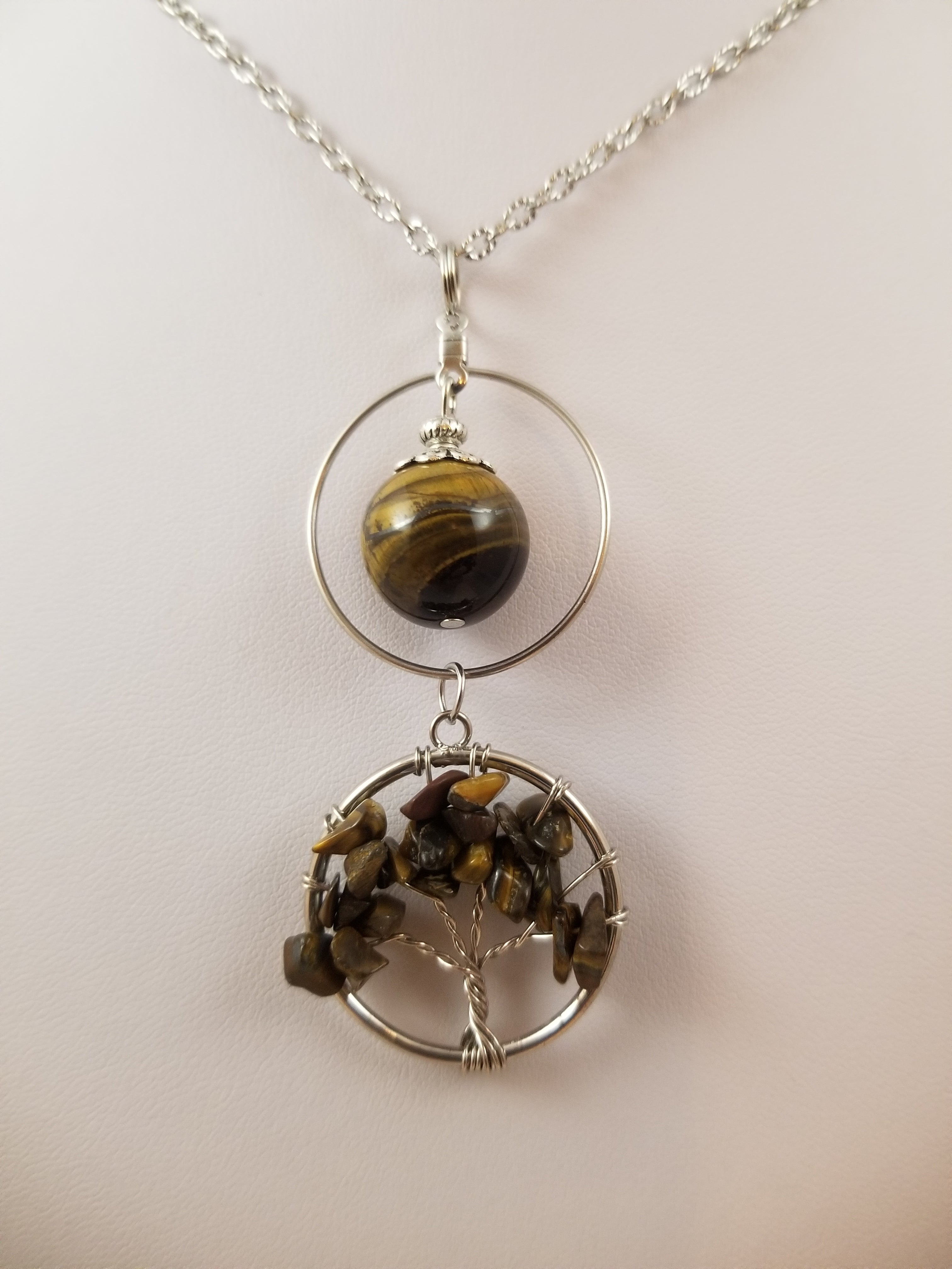 Tiger Eye Tree Simply Charming Necklace