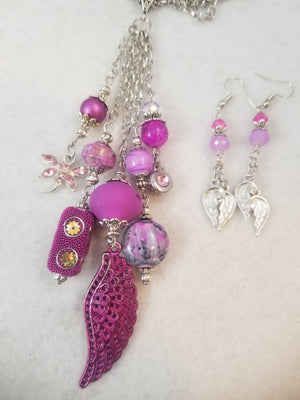 Angel Spirit Necklace with Earrings