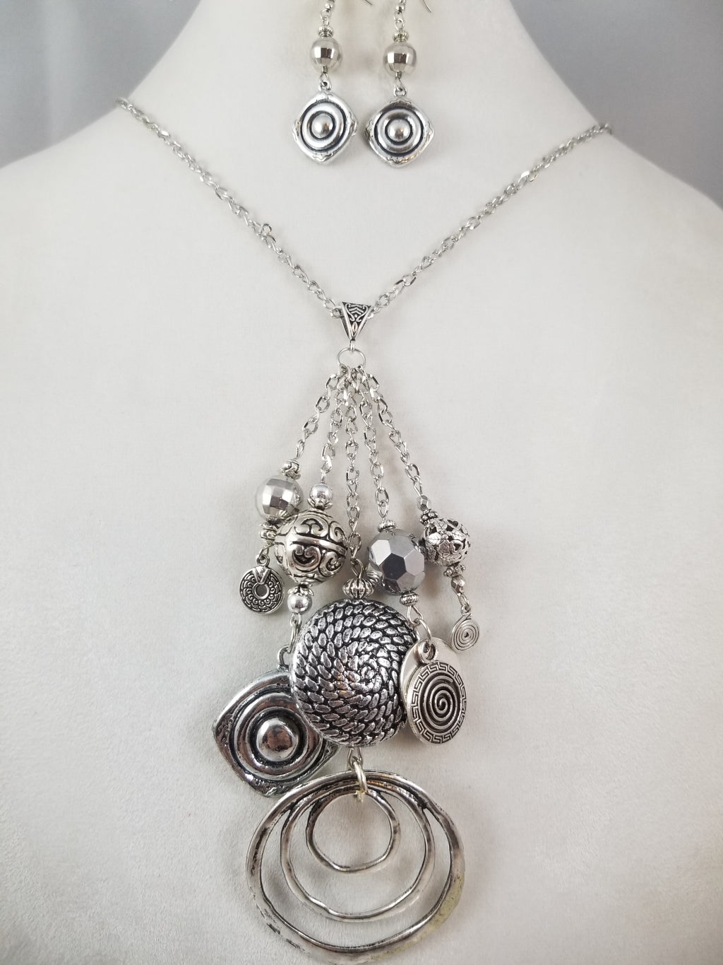 Believed Necklace with Earrings