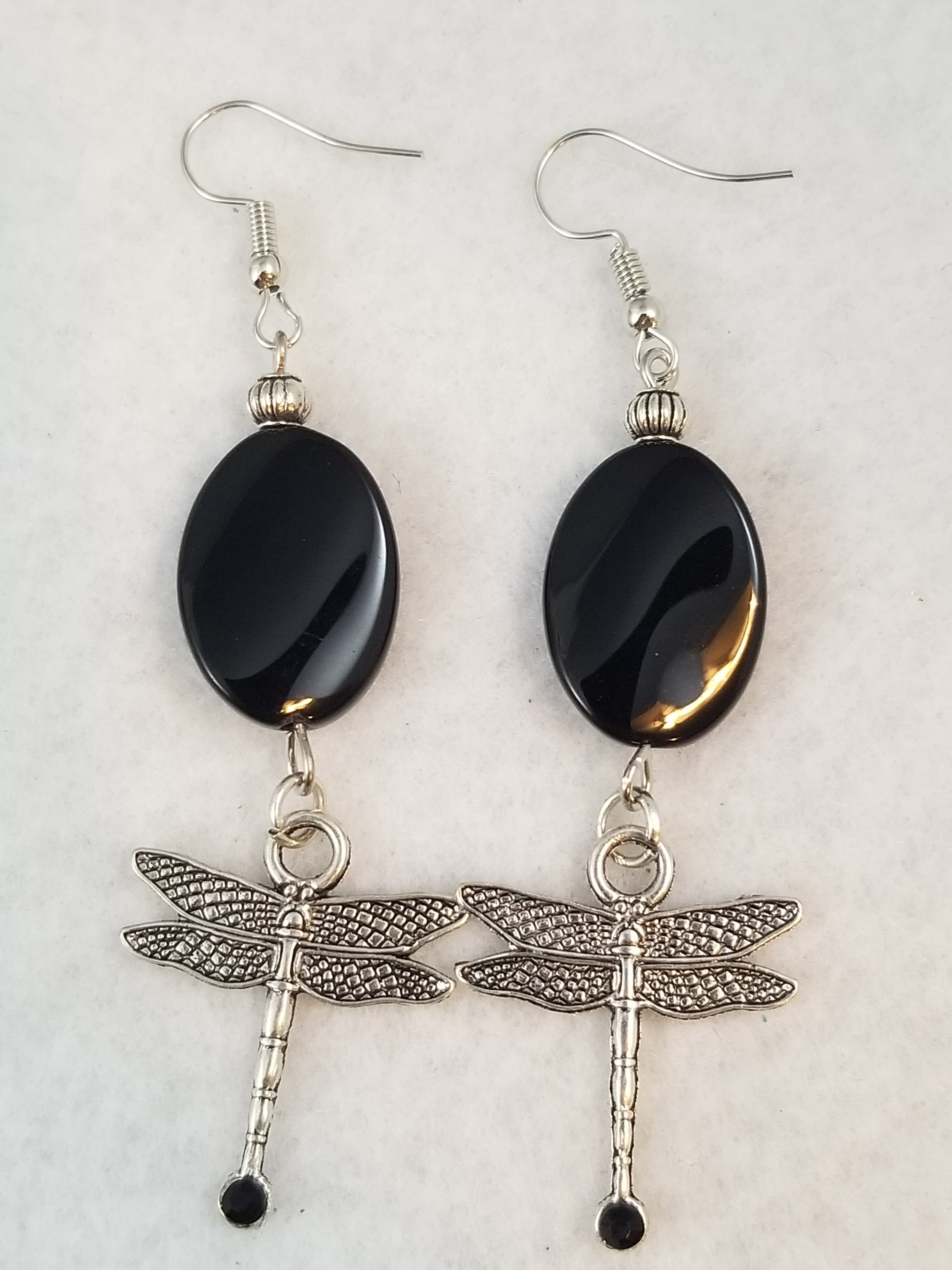 Black #15 Earrings