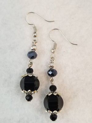 Black #19 Earrings