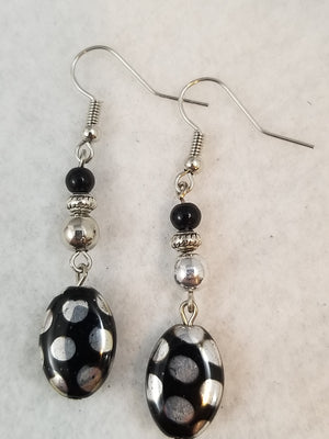 Black #20 Earrings