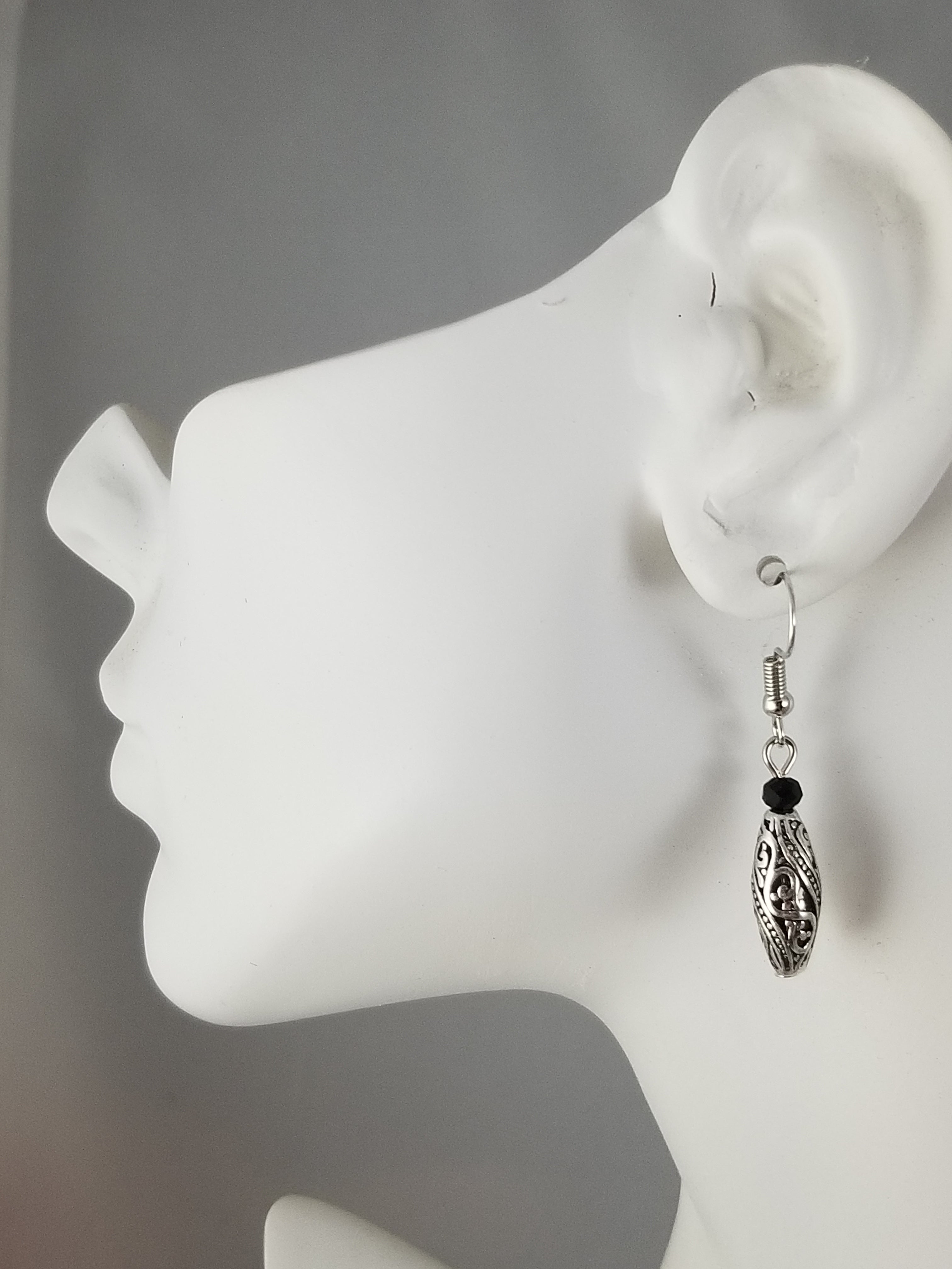 Black #21 Earrings