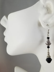 Black #22 Earrings