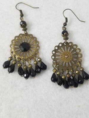 Black #47 Earrings