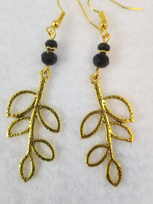 Black #56 Earrings