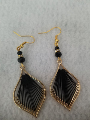 Black #85 Earrings