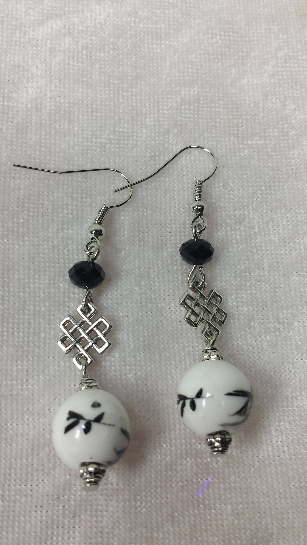 Black and White Eastern Flair Earrings