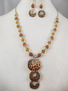 Brown Sugar Necklace with Earrings