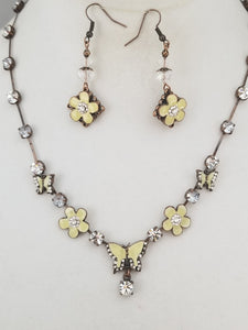 Butter Fly Necklace with Earrings