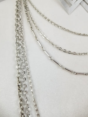 Chain, Chain, Chain Necklace with Earrings