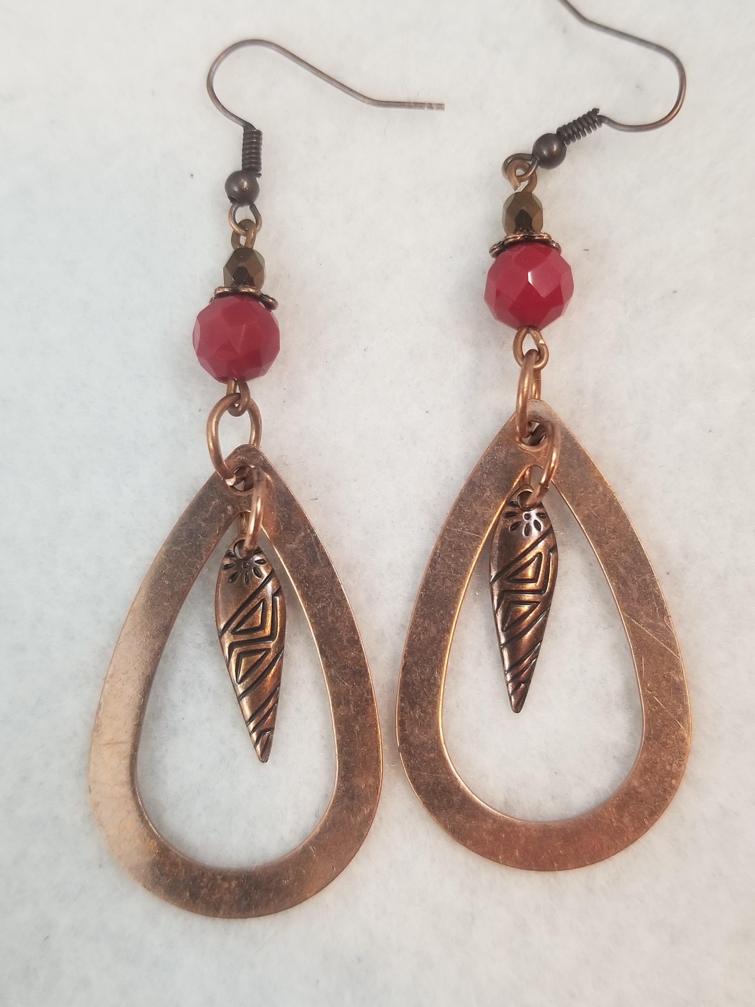 Copper #9 Earrings