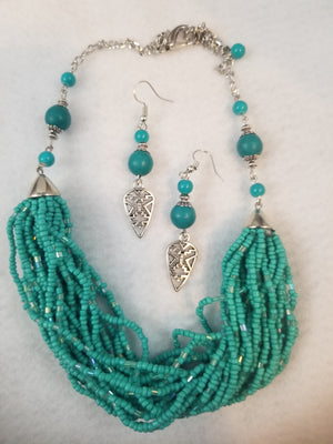 Desert Air Necklace with Earrings