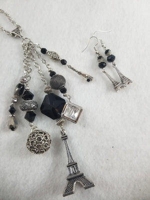 Eiffel Dream Necklace with Earrings
