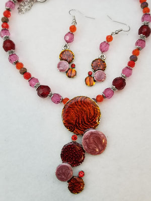 Fruit Salad Necklace with Earrings