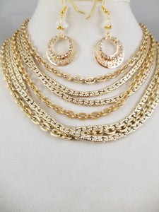 Golden Oldie Necklace with Earrings