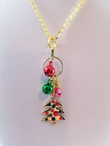 Golden Tree Simply Chaming Christmas Necklace