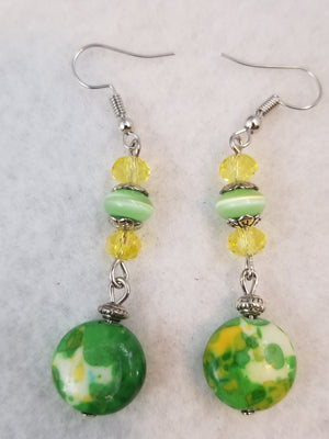 Green #12 Earrings
