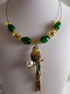 Green Parrot Necklace