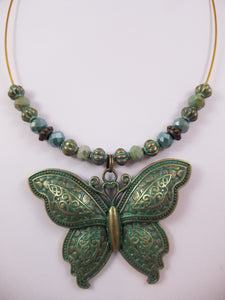 Iron Butterfly Necklace