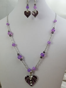 Little Hearts Necklace with Earrings