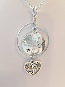 Moon and Back Simply Charming Necklace