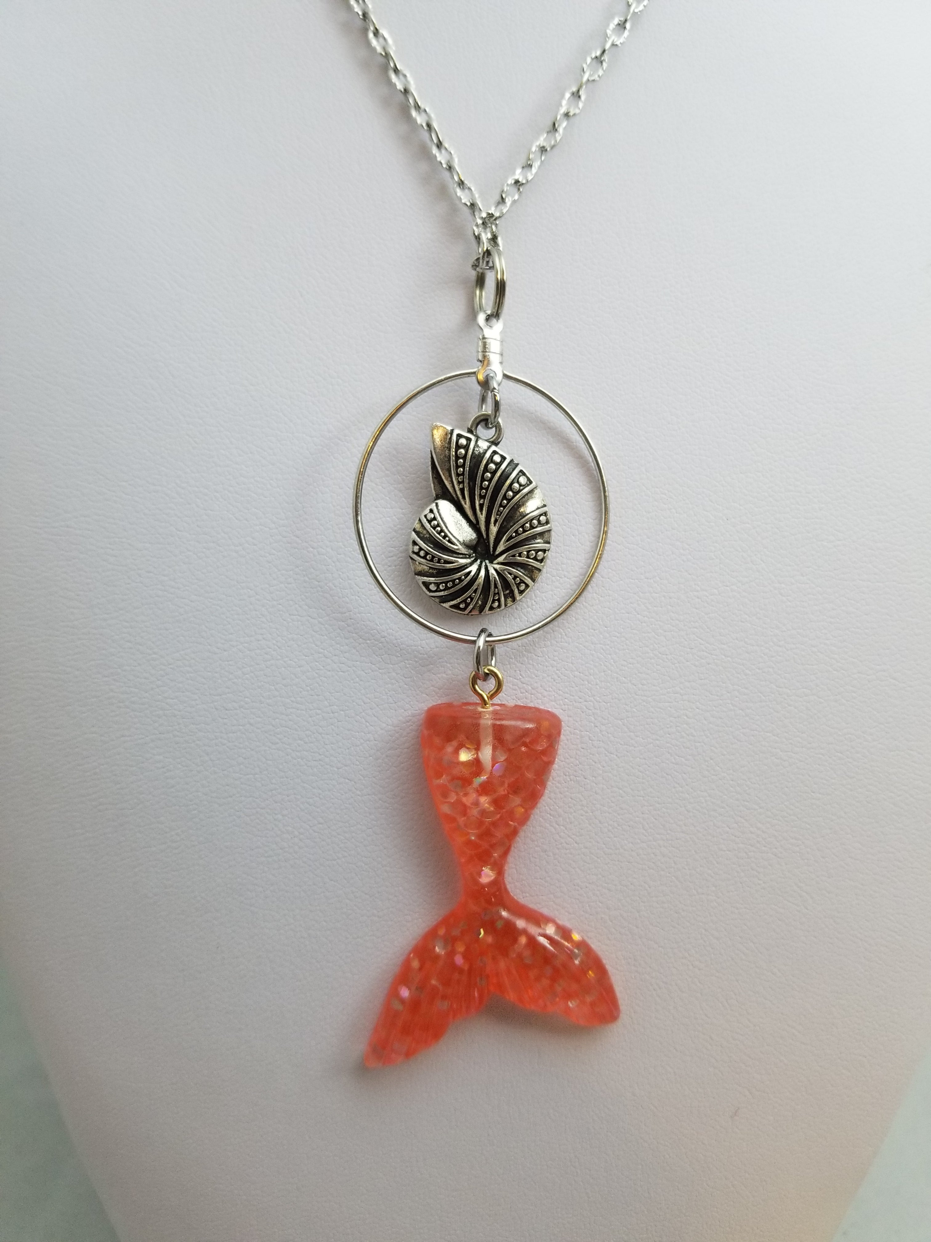 Orange Mermaid Simply Charming Necklace