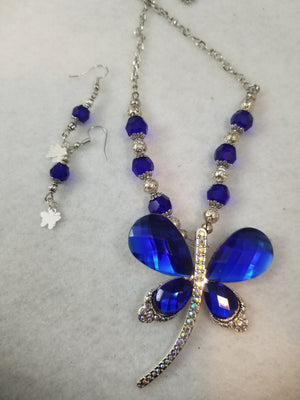 Persian Blue Necklace with Earrings