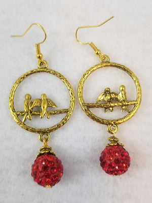 Red #20 Earrings