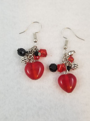 Red #28 Earrings