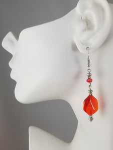 Red #4 Earrings