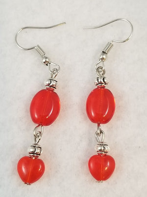 Red #5 Earrings