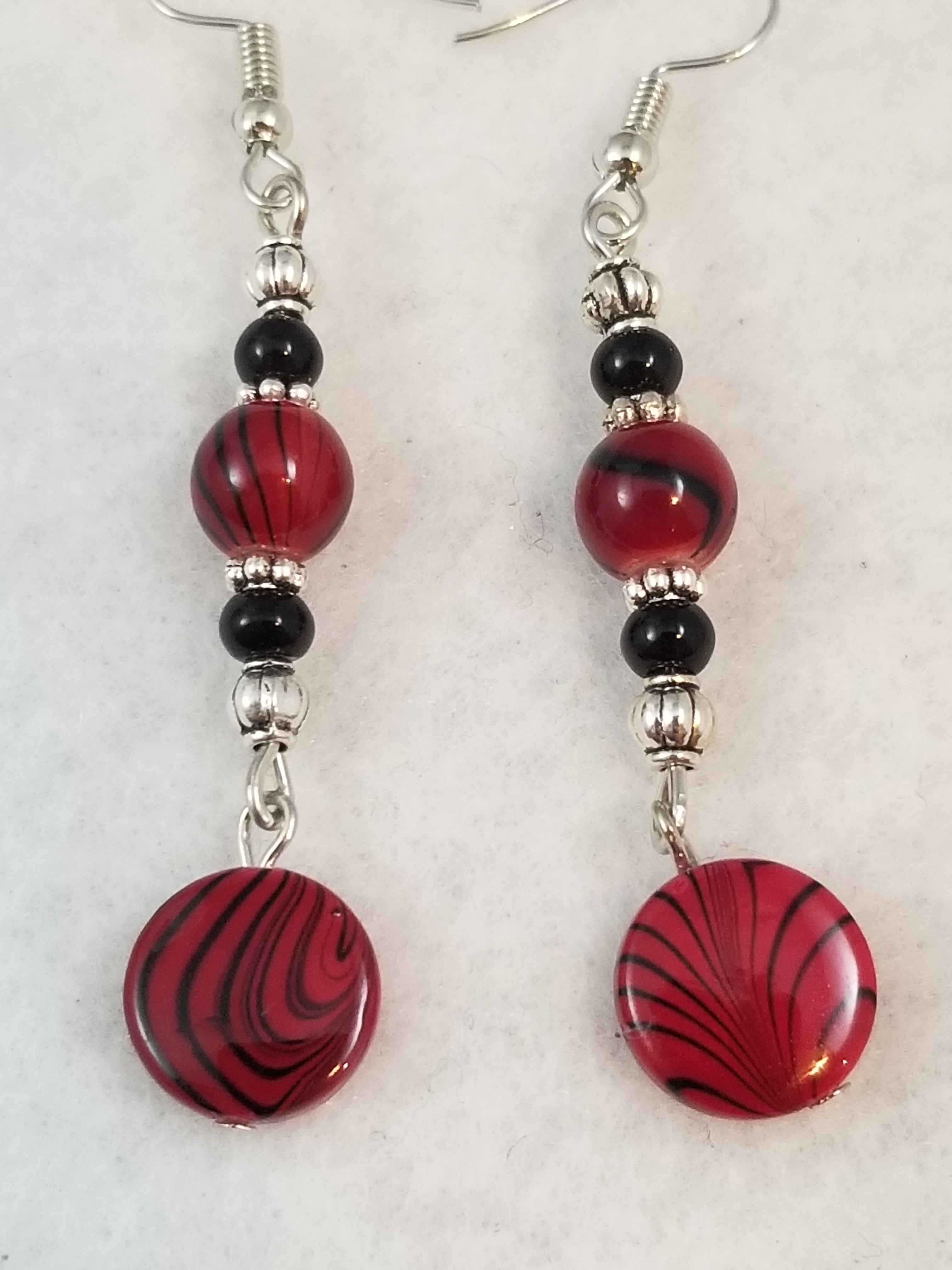 Red #7 Earrings