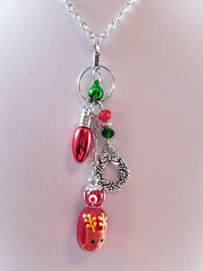 Reindeer Globe Simply Chaming Christmas Necklace