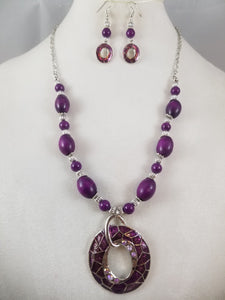 Sangria Necklace with Earrings