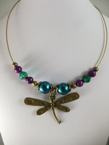 Sassy Dragonfly Necklace