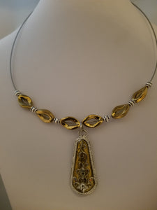 Silver Gold Necklace