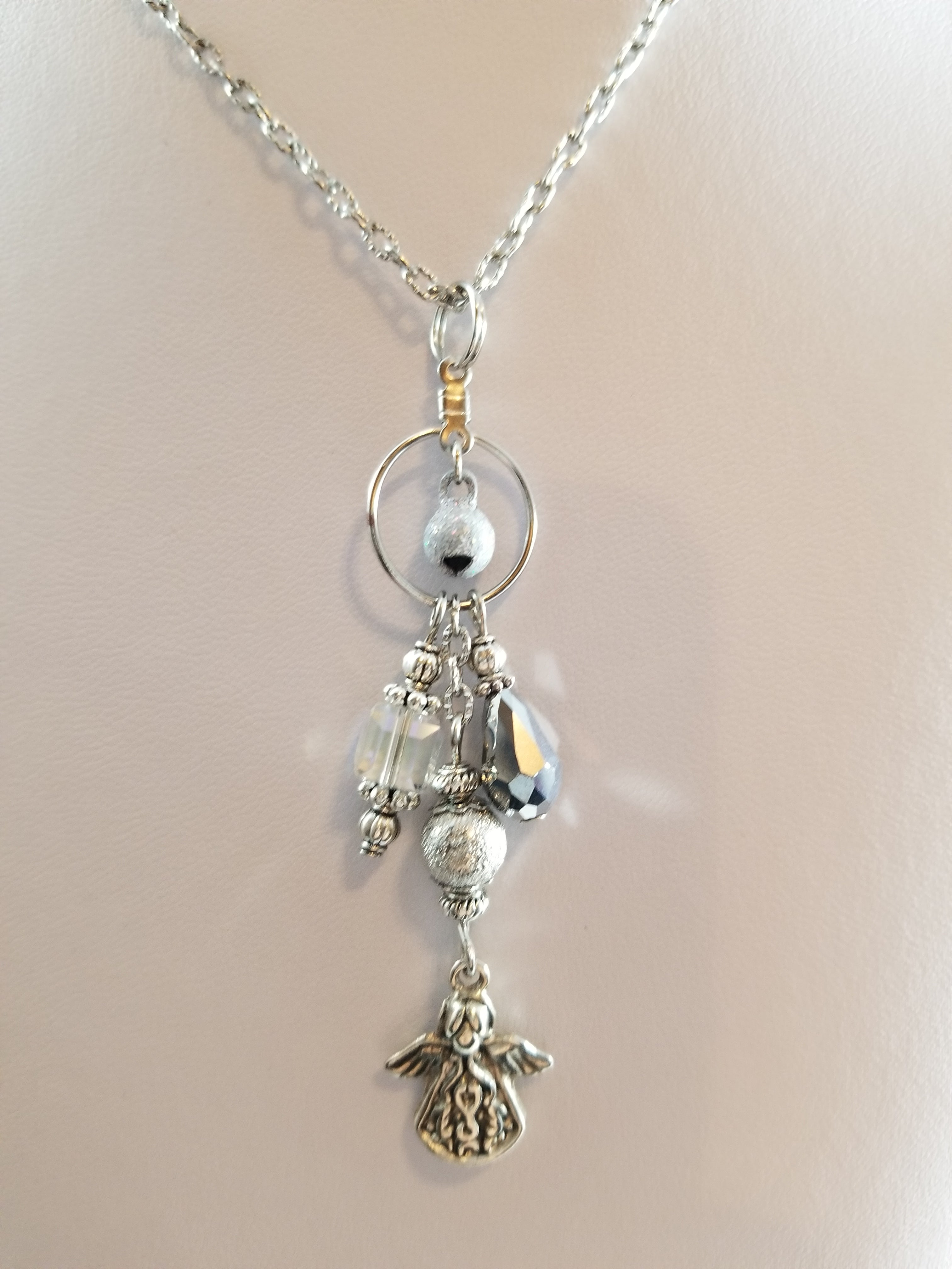 Silver Angel Simply Chaming Christmas Necklace