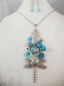 Snapdragon Necklace with Earrings