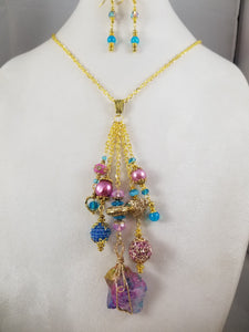 Sugar Candy Necklace with Earrings