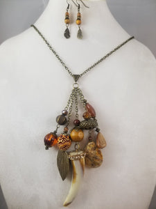 Talisman Necklace with Earrings