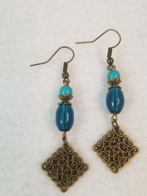 Turquois Colored #39 Earrings