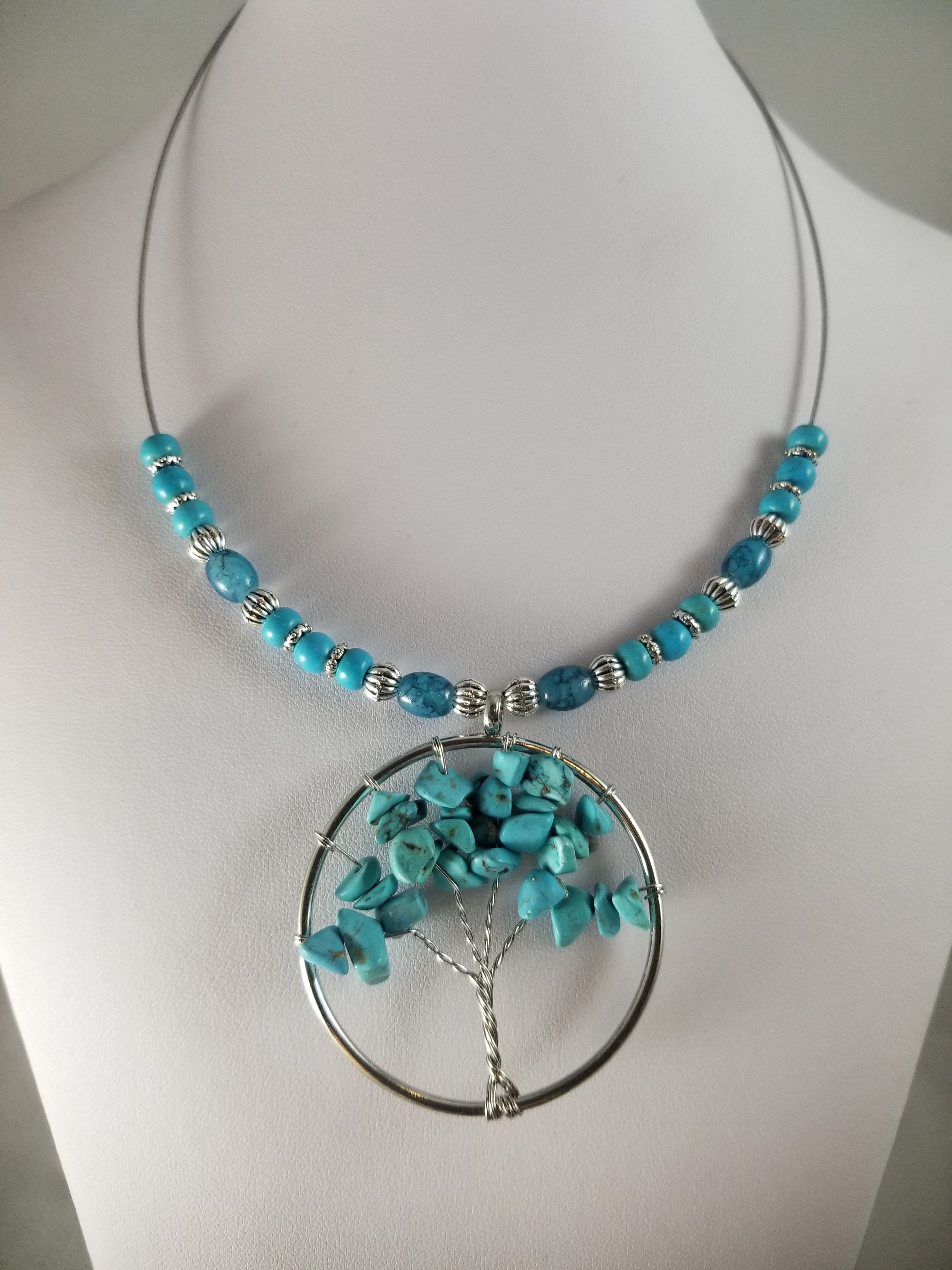 Turq Tree of Life Necklace