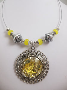 Yellow Foil Necklace