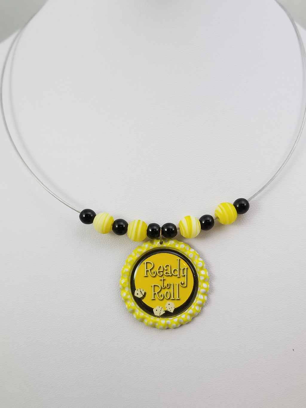 Yellow Bunco Necklace