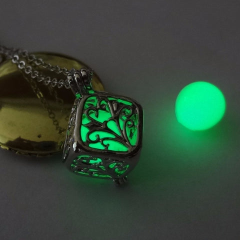 Glow in the dark hals ketting (Groen)