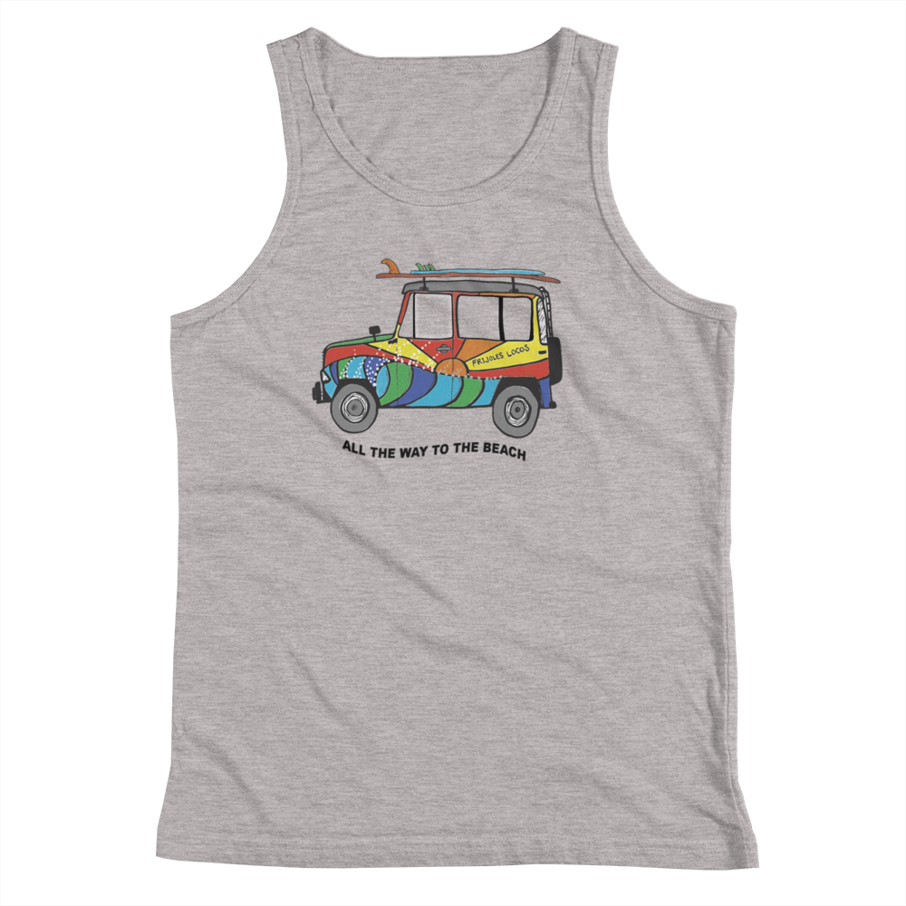 Frijoles Locos JEEP tank top YOUTH