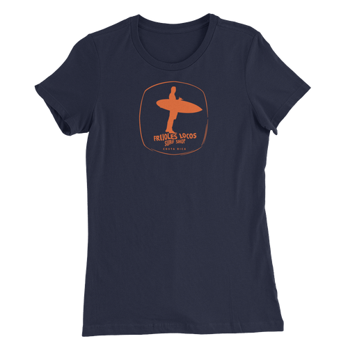 Classic Logo in Orange on Women's Slim fit Tee