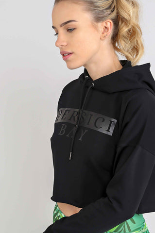 Crop To It Hoodie Black Ink