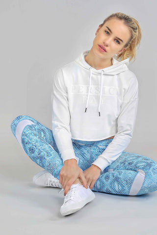Crop To It Hoodie White Sands